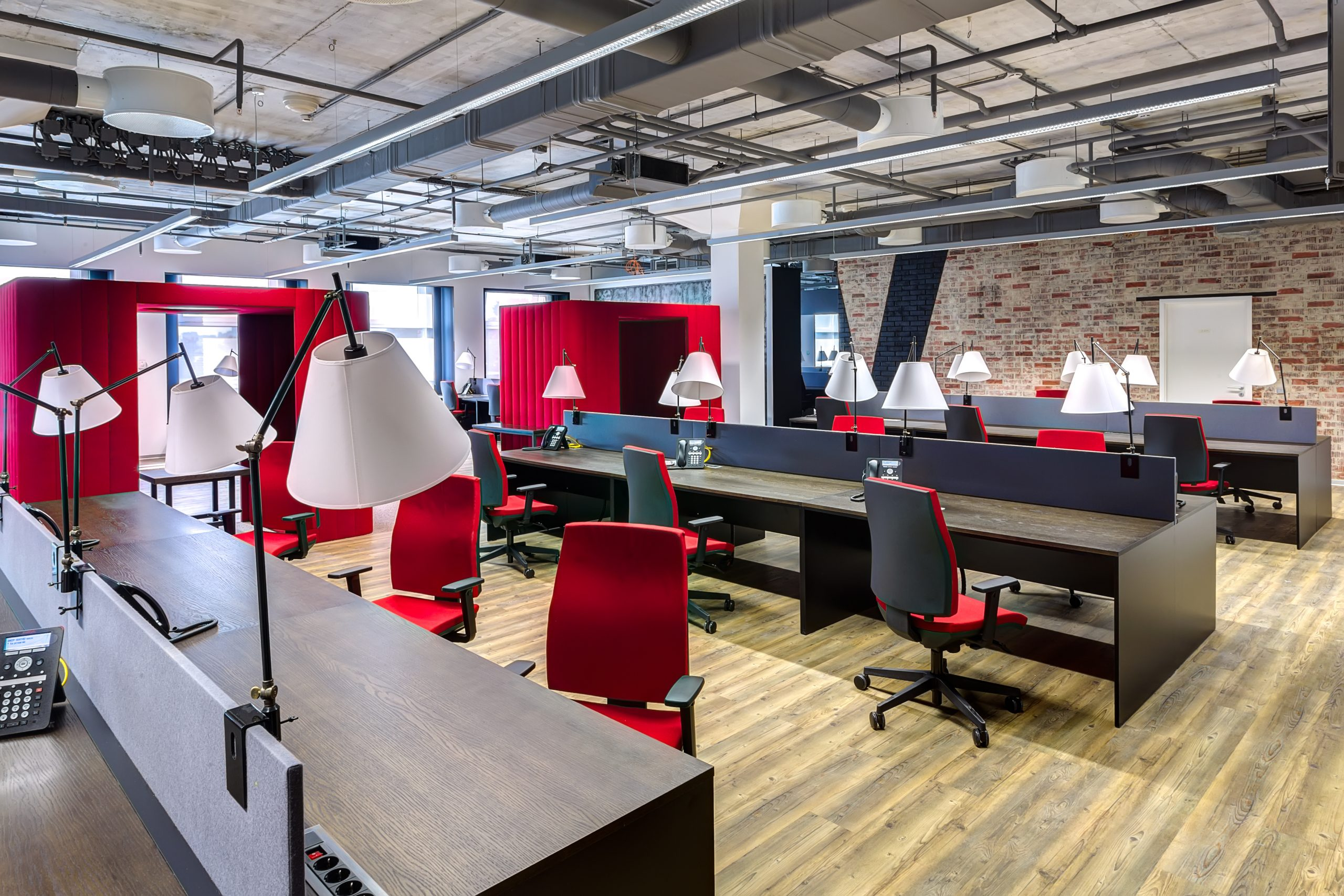 Modern office fit out with office desks