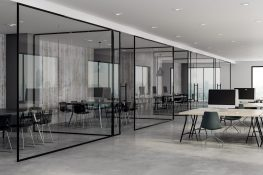 full height glass office partition