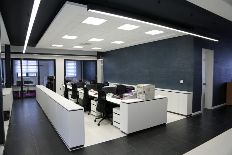 Office fit out in London open plan area